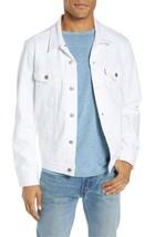 Levi's Men's Cotton Button Up Denim Jeans Trucker Jacket White 723340355