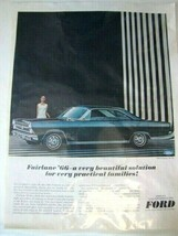 1966 Ford Fairlane 500 XL Automobile Print Ad, Muscle Car  (7-UP opposite) - $9.89