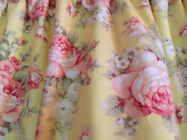 "Dainty Yellow Shabby Chic Curtains Panels Tiers Window Treatment 43""W x ... - $24.75"