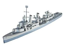 Model Kit - U.S.S. Fletcher (DD-445) - 1:700 Scale - REV05127 - Revell - $21.33
