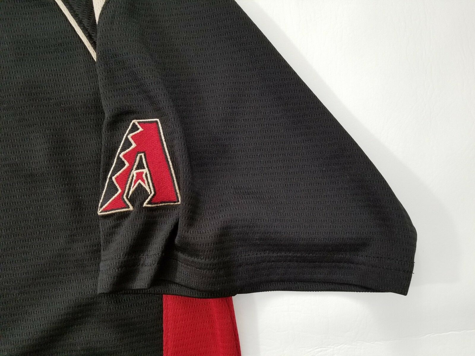 Majestic Arizona Diamondbacks Baseball Jersey Mens Size L Pull Over MLB Black