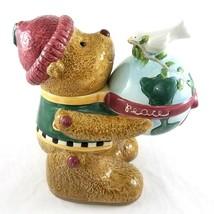 Vintage Sakura Debbie Mumm Teddy Bear World Peace Dove Cookie Jar Ceramic - $49.38