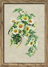 Cross Stitch Kit Riolis Flowers Bouquet of Camomiles - $23.00