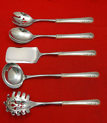 Courtship by International Sterling Silver Hostess Set 5pc HHWS  Custom Made