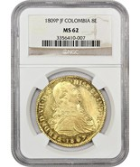 Colombia: 1809-P JF 8 Escudos NGC MS62 (KM# 66.2) - Colombia - Finest Kn... - $3,860.60