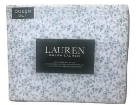 Ralph Lauren 100% Cotton Multi-Color Floral Queen Sheet Set - $89.09