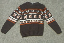 Gymboree Brown Orange White Sweater Size 6 - $12.19