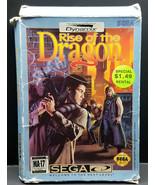 Rise Of The Dragon (Sega CD 1994) CD and Rare Box - $31.50