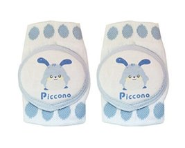 1 Pairs Pure Cotton Crawling Baby Knee Pads Kids Knee Pads Protector Blue image 2