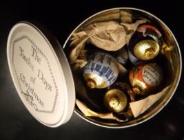 Rauch Industries Christmas Ornaments 1992 12 Days Of Christmas Magic Gold Balls - $29.99
