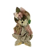 Bearington Bear 'Daisey and Belle' Beige Bear in Pink Sweater Floral Dre... - $11.30