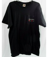 Preowned Black Jack Daniels Fruit of the Loom T Shirt Short Sleeves Size L - $19.79