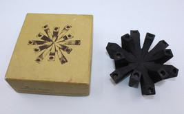 Hallmark Mid Century Modern 12 Danish Taper Cast Iron Candle Holder Black Japan - $26.77