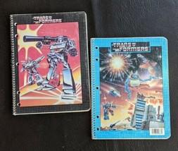 Lot of 2 1980 Vintage Transformers Spiral Notebook Gen1 Megatron Metropplex - $56.09