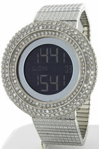 KING MASTER 65.00ct Lab Made Diamond Watch Aqua Master Fully Iced Out Me... - $395.99