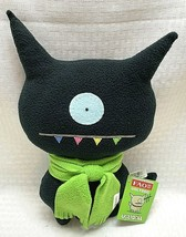 Original UglyDoll 2004 UglyDog Plush Black with Green Scarf RARE FAO Exc... - $39.99