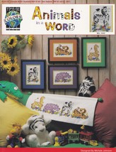 Animals in a Word True Colors Cross Stitch Pattern BCL-10161 Zebra Hippo... - $4.95