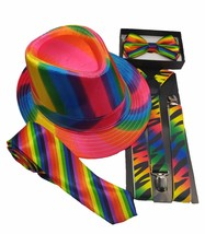 Designer Unisex Rainbow Pride Party Costume Adjustable BOW TIE Selections - $7.00