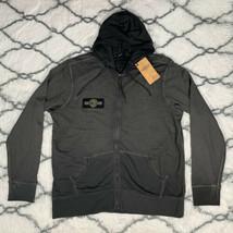 HARLEY DAVIDSON Oak Leaf Slim Fit Zip Hoodie Gray Men's Size 2XL *NEW* RARE - $56.53
