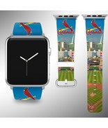 St. Louis Cardinals Apple Watch Band 38 40 42 44 mm Fabric Leather Strap 02 - $29.97