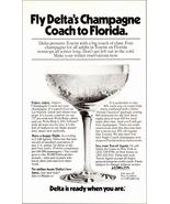 Florida Delta Champagne Coach Flight 1975 AD Fly Delta to Florida Aviation  - $10.99