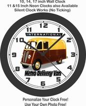 1938 International Metro Delivery Van Wall Clock-Free USA Ship - $28.70+
