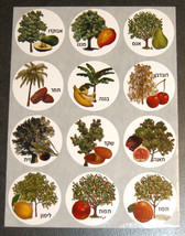 Fruit Trees Images Hebrew Names 120 Stickers Children Teaching Aid Israel