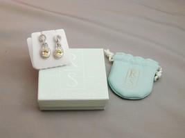 Ross Simons Sterling 3 CZ Circles Canary CZ Dangle Earrings NIB - $114.99