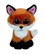 Peo original ty boos 10 25cm slick brown fox plush medium soft big eyed stuffed animal thumbtall