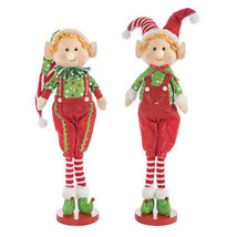 Darice Christmas Fabric Elf Decoration: 7 x 21 inches, 2 Assorted Styles w - $29.99