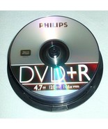 Philips 25 Pack DVD-R 4.7GB Silver Disc DM4S6B25F/17 Unsealed Cake Box NEW - $14.80