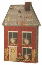 Primitive CHUNKY FALL HOUSE Wooden Shelf Sitters Country Folk Art Autumn... - $100.00