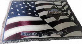 Ventura County Sheriff Profession American Flag Blanket Tapestry Throw 7... - £52.05 GBP