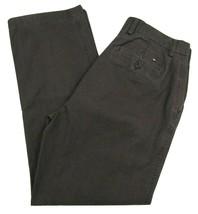 Tommy Hilfiger Brown Pin Striped Pants Men's W33 X L32 98% Cotton - $24.26
