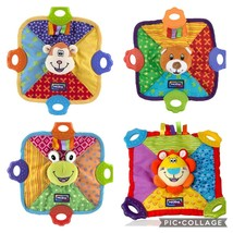 Nuby Baby teething security blanket Frog teddy bear monkey lion Teether ... - $14.99