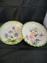 """2 Royal Norfolk Floral Salad Plates 8.5"""" - $15.83"""
