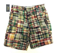 "Ralph Lauren Polo Mens Classic Fit 9"" Madras Patchwork Shorts 30 - $44.54"