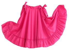 Girls Full Super Wide Skirt One Size Waist For Folkloric Dances New Hand... - £19.45 GBP+