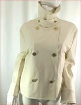 new LAUREN RALPH LAUREN women luxury jacket 200640730001 ivory beige sz 14 - $53.51