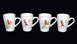 4 Wendoverlane Chic Sassy Girl Christmas Theme Tall Mug Gold Highlights Nwot - $24.99
