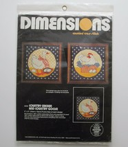 Dimensions Country Chicken Goose Counted Cross Stitch Kit 3534 Farmhouse... - $12.55