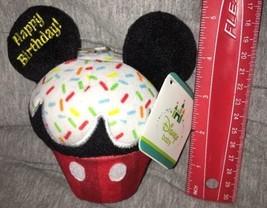New Disney Baby Happy Birthday Cupcake Plush Rattle NWT Kids Preferred C... - $16.82