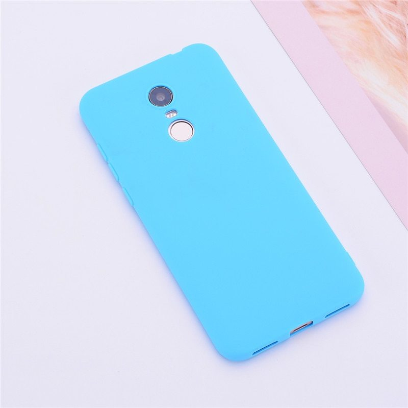 Primary image for Color Matte Phone Cases For Xiaomi Redmi / Case Silicone (Light Blue)