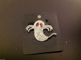 Beautiful sparkly new rhinestone pin with ghost and red eye crystals image 7