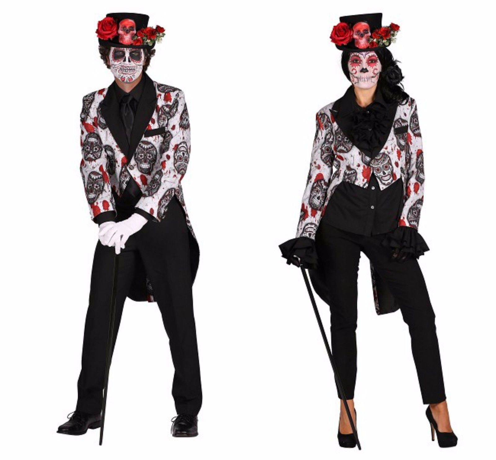 Halloween 2017 - Sugar Skull TAILCOAT Jacket  , Gents