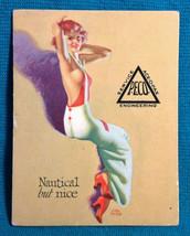 1940s Pinup Girl Earl Moran Ad Art Ink Blotter Card Nautical But Nice P.... - $24.74