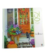 "750 Piece Puzzle Cat  Big Ben  Autumn Porch Animals Jigsaw  20 ""x 27"" Ki... - $16.19"