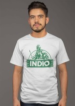 Indio Cervesa T-shirt beer bar Mexican 100% cotton graphic white cotton tee image 2
