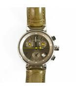 LOUIS VUITTON Q1122 Sable Medium Tambour Chronograph Quartz Watch 34mm w... - $1,836.45