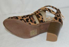 Bella Marie Vermont 61 Leopard Suede Double Buckle Plus Zipper Size 6 image 6
